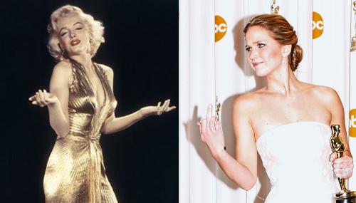 De Marilyn Monroe à Jennifer Lawrence : 7 décennies de stars féminines