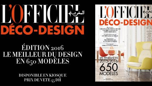 L'Officiel Maroc Déco-Design 2016 est arrivé !