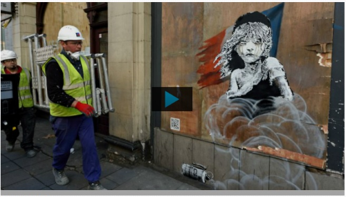 Quand Banksy dénonce la situation désastreuse des migrants de Calais