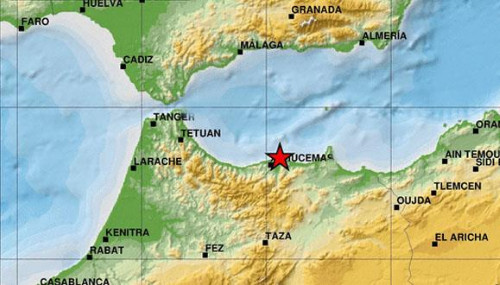 Secousse tellurique de magnitude 5,3 degrés au large d'Al Hoceima et Nador