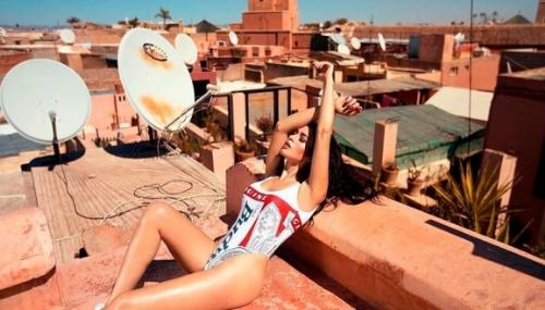 Playboy en shooting à Marrakech
