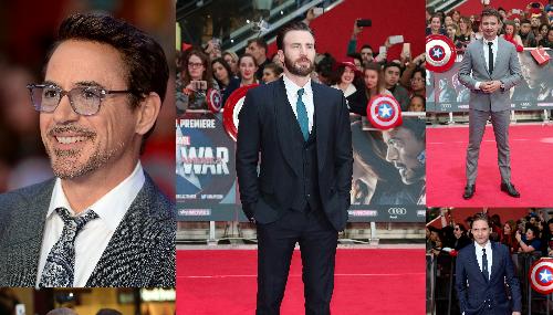 Réunion de super-héros à Londres pour la première de Captain America : Civil War