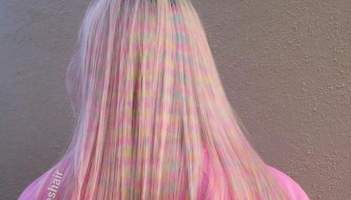 Confetti Hair, la coloration aux allures d'effet d'optique