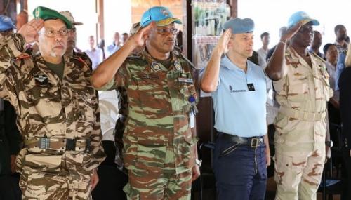 Diapo. Centrafique: dernier hommage au Caporal-Chef Abdaljalil El-Zaitouni