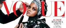 La top model Halima Aden en couverture de Vogue Arabia