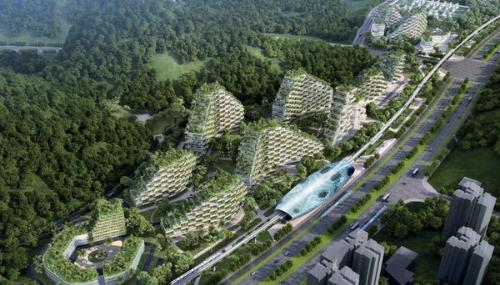 La Chine construit une ville végétale pour combattre la pollution atmosphérique
