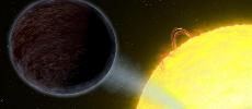 Une exoplanète noire comme l'asphalte