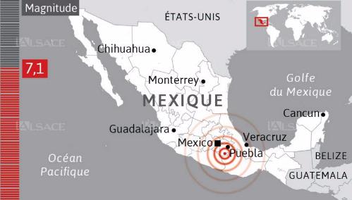 Drame national à Mexico suite à un nouveau Séisme