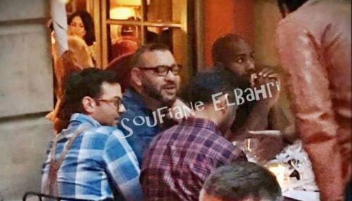 L'image du jour. Dîner de Mohammed VI avec le champion français Teddy Riner à Paris