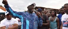 Au Liberia, l'ancienne gloire du football George Weah, candidat des défavorisés