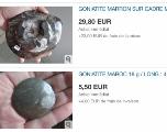 Patrimoine géologique en vente sur internet, l'anarchie en attendant la loi
