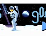 Doodle du jour : le 3ème homme de la mission Apollo 11 raconte l'aventure lunaire