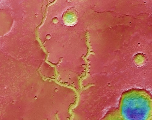 Mars : et au milieu coule une rivière