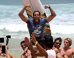 Championnat du monde de surf : Le Marocain Ramzi Boukhiam remporte l'étape de Hang Loose au Brésil