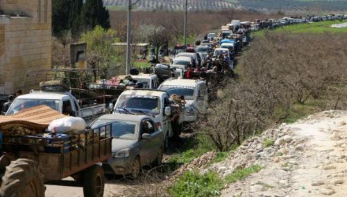 Des centaines de civils fuient la ville d'Afrin face à l'avancée de l'armée turque