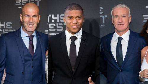 Zidane, Mbappé, Kanté, Deschamps : tous chics et sur leur 31 pour la cérémonie The Best