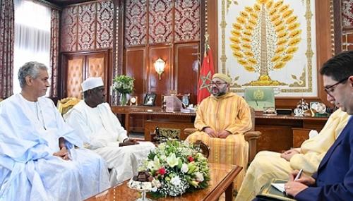 Le Roi reçoit une lettre du président de l'UA