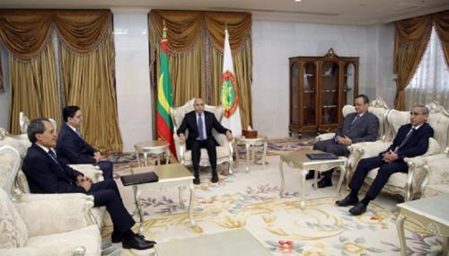 Bourita reçu en audience par le président mauritanien