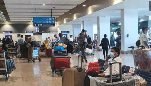 Arrivée à l'aéroport de Béni Mellal de 152 Marocains bloqués en Egypte