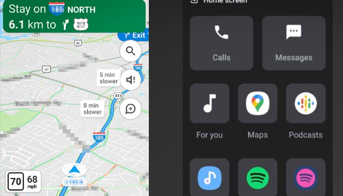 Google Maps teste sa nouvelle interface pour voitures