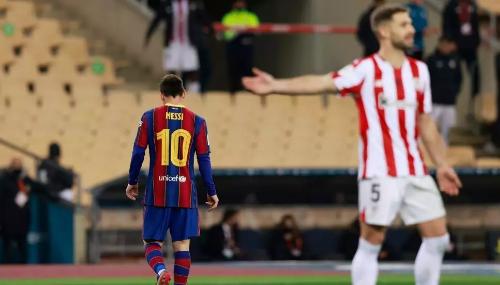 Face à Bilbao, Messi reçoit son premier rouge avec le Barça et perd la Supercoupe