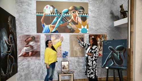 L'art plastique au féminin: trois questions à l'artiste Nadia Ghessal