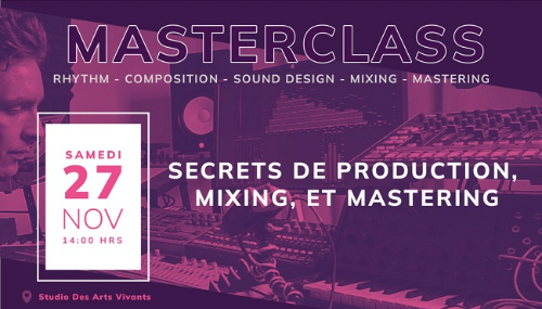 Une Masterclass à Casablanca pour les pros du son!