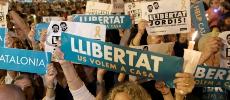 Vidéo. Catalogne: manifestations contre l'incarcération de deux indépendantistes