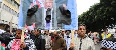 Des centaines de milliers de personnes manifestent à Rabat contre la décision de Trump