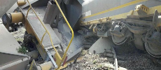 Casablanca: renversement d'un train de phosphate