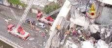 Gênes : troisième nuit de recherches après l'effondrement du pont de Morandi